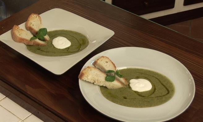 Donnas Book Blog - Cream of Zucchini Soup