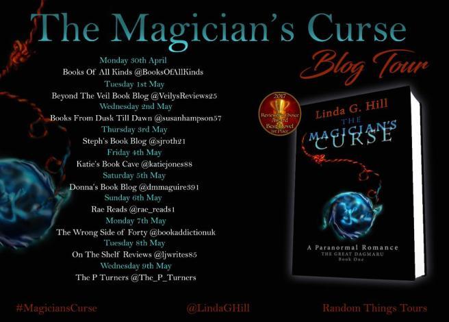 The Magician's Curse Blog Tour Banner