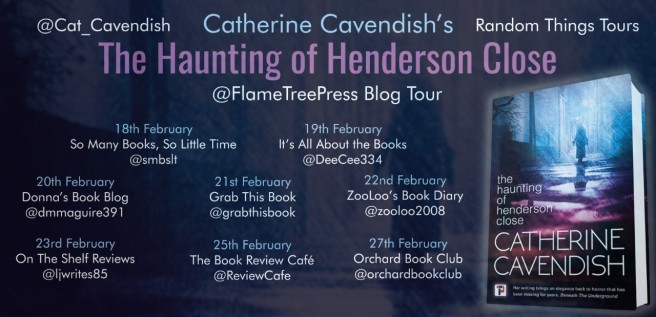 the haunting of hendeson close blog tour poster