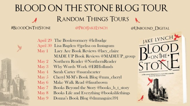 Blood on the Stone Blog Tour Poster