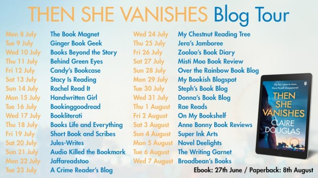 Blog tour banner - Then She Vanishes Final Poster